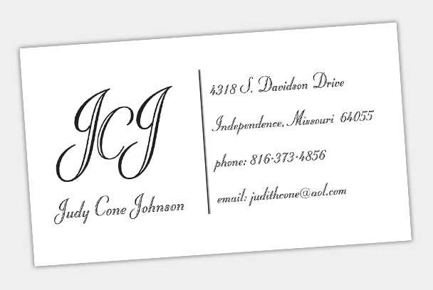 personal contact card